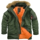 Куртка Аляска ALPHA INDUSTRIES N-3B SLIM FIT Цвет : SAGE GREEN